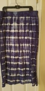 Lane Bryant Size 18/20 Maxi Skirt Navy and White